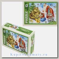 Пазл «Новый Год в лесу» 12 MAXI элементов