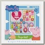 Пазл-набор 4 в 1 «Peppa Pig. Герои и предметы» 9, 16, 25, 36 элементов