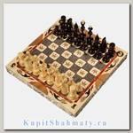 Шахматы резные «Герб России» среднего размера