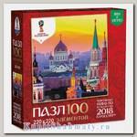 Пазл «Вечерний закат в Москве» 100 элементов
