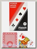 Карты игральные «Стандарт Rummy» красные Piatnik вскрытая упаковка