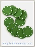 Фишки для покера «Lear» зелёные