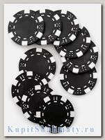 Фишки для покера «Hasard» без номинала чёрные