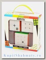 Подарочный набор кубиков Рубика «MoYu 2 + 3 + 4 set»