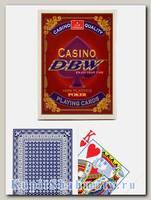 Карты «Casino DBW» синие вскрытая упаковка