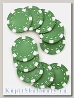 Фишки для покера «Hasard» без номинала зелёные
