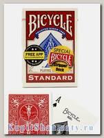 Карты для фокусов «Bicycle Stripper Deck» красные вскрытая упаковка
