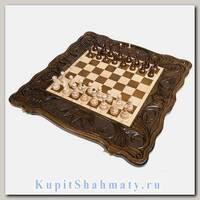 Нарды + шахматы + шашки «Корона» мастер Карен Халеян 3 в 1 60 см