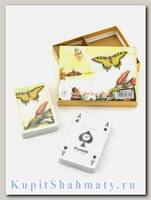 Набор коллекционных игральных карт «Tulips and butterflies» Piatnik