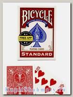 Карты для фокусов «Bicycle Standard Magic props» красные вскрытая упаковка