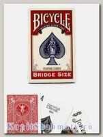 Карты игральные «Bicycle Bridge size» красные вскрытая упаковка