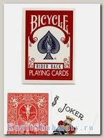 Карты «Bicycle Rider Back» красные вскрытая упаковка