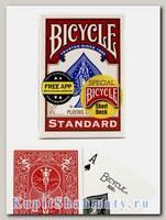 Карты для фокусов «Bicycle Short Deck» красные вскрытая упаковка