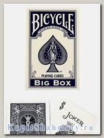 Карты «Bicycle Classic Big Box» синие вскрытая упаковка