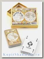 Набор коллекционных игральных карт «Карта мира» Piatnik вскрытая упаковка