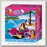 Конструктор «Розовая мечта. Лодка» (70 деталей, 1 фигурка)