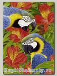 Пазл «Попугаи  (Бархатная коллекция)» 1000 элементов