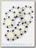 Фишки для покера «Hasard» без номинала белые