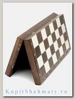 Шахматная доска «Гроссмейстерская» венге с серебром