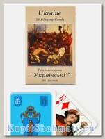 Карты игральные «Украина» голубые Piatnik