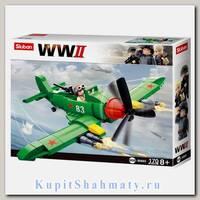 Конструктор «Вторая мировая война. Самолет ИЛ-2» (173 детали, 1 фигурка)
