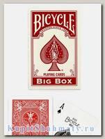 Карты «Bicycle Classic Big Box» красные вскрытая упаковка