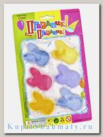 Набор головоломок - лабиринтов «Зайка» жёлтый, фиолетовый, голубой, розовый.