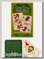 Карты игральные «Новый стиль» тёмно-зелёные Piatnik вскрытая упаковка