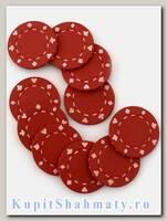 Фишки для покера «Lear» красные