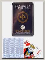 Карты игральные «Супер люкс» синие Piatnik вскрытая упаковка