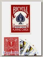 Карты для фокусов «Bicycle  Rider Back Magic props» красные вскрытая упаковка