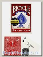 Карты игральные «Bicycle Standard Free App» красные