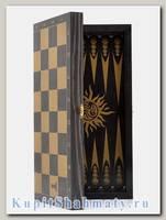 Доска 3 в 1 шахматы, шашки, нарды «Ярославская» чёрная
