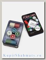 Фишки для покера «Holdem» 100 штук с номиналом
