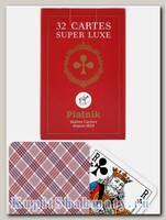 Карты игральные «Супер люкс» красные Piatnik вскрытая упаковка