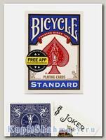 Карты игральные «Bicycle Standard Free App» синие вскрытая упаковка